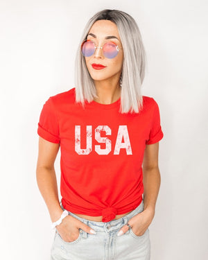 "*FINAL SALE* ""USA"" Graphic Tee - Jane & Kate"