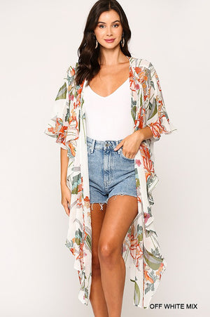 The Alyssa Kimono - OFF WHITE MIX - Jane & Kate