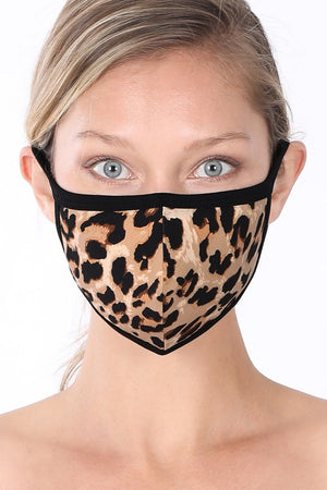 Leopard Face Mask - TAN/BLACK - Jane & Kate