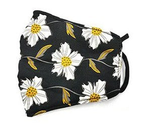 Floral Face Mask - BLACK - Jane & Kate