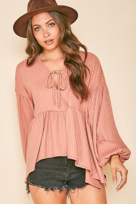 *FINAL SALE* The Laine Babydoll Top