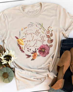 """Fearfully and Wonderfully Made"" Graphic Tee - Jane & Kate"