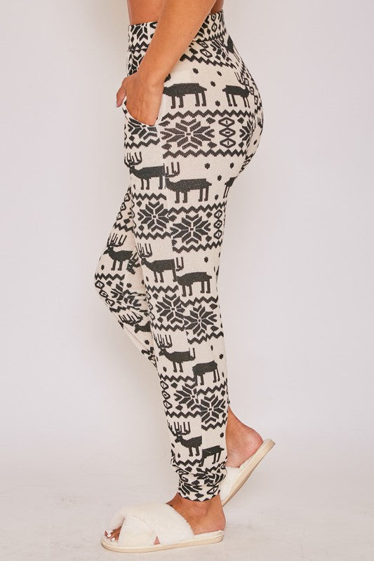 *FINAL SALE* It's the Coziest Time of the Year Loungewear Pants