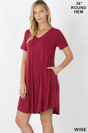 The Reagan V-Neck Dress - Jane & Kate