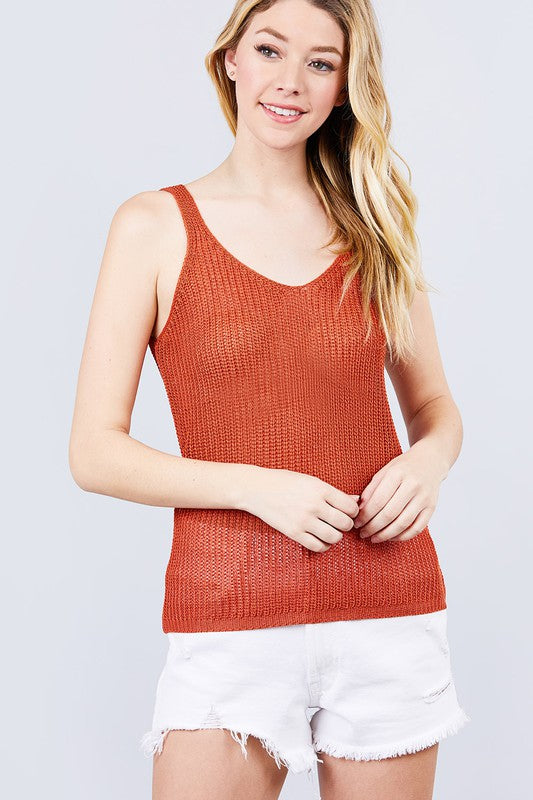 The Gracie Top - RUST