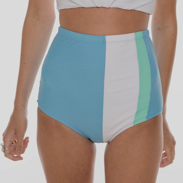 The Izzy Swimsuit Bottoms - BLUE