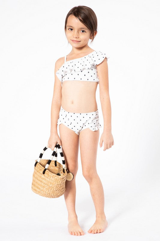 The Mini Caroline Swimsuit - POLKA DOT