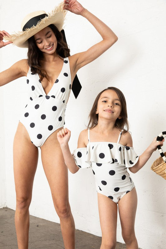The Stacy One Piece Swimsuit - POLKA DOT