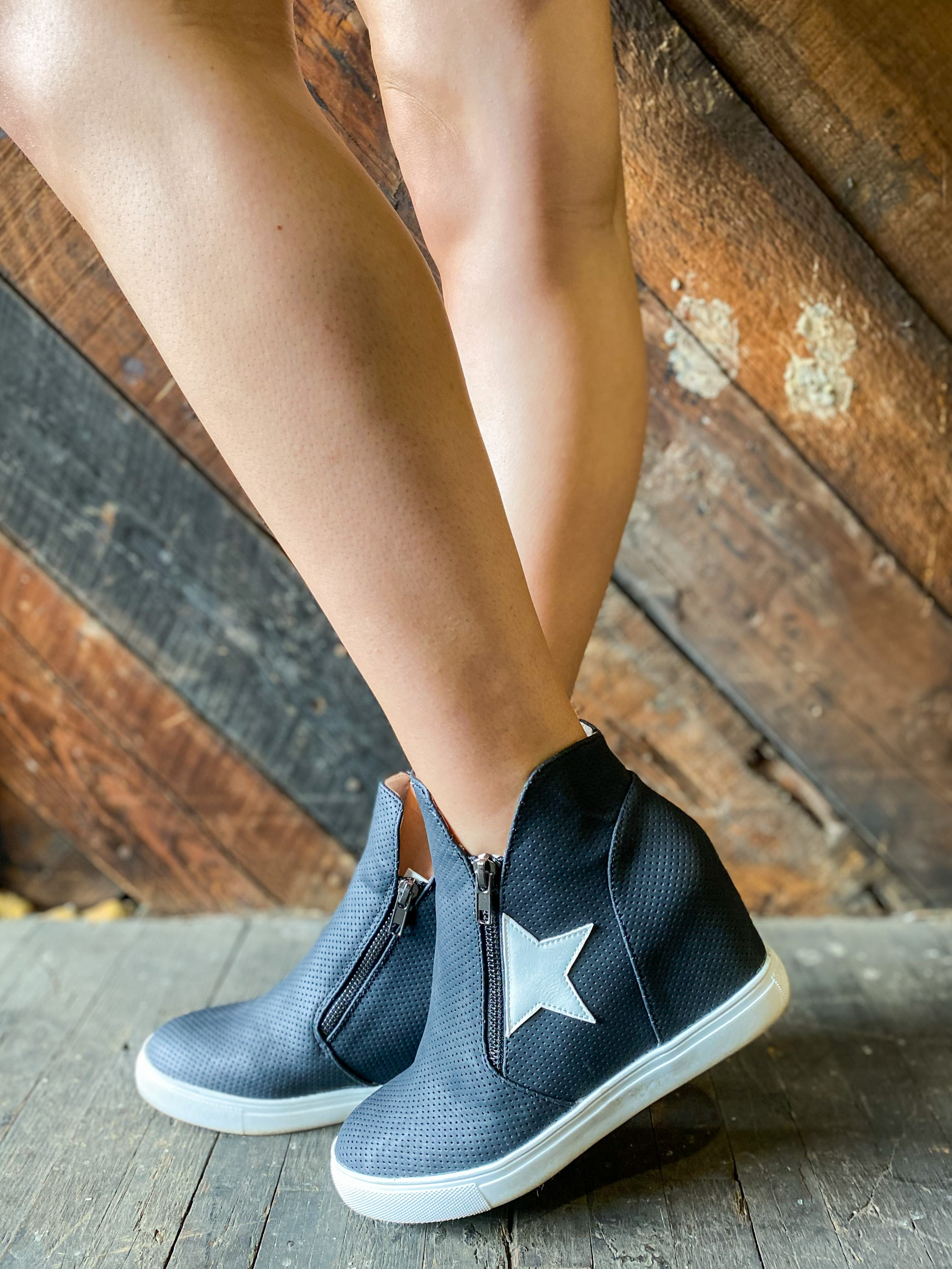 *FINAL SALE* You're a Star Sneaker Wedge