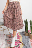 Leopard Pleated Midi Skirt - Jane & Kate