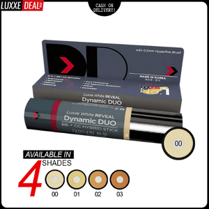 Luxxe White Reveal Dynamic Duo Bb + Cc Hybrid Stick - Spf50 Pa+++ Shade 00 - Luxxe Deal Philippines