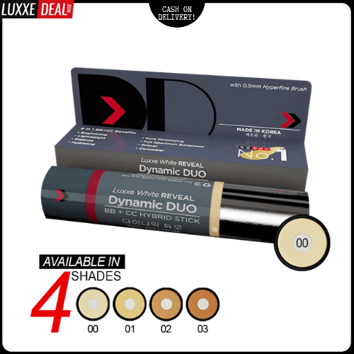Luxxe White Reveal Dynamic Duo Bb + Cc Hybrid Stick - Spf50 Pa+++ Shade 00