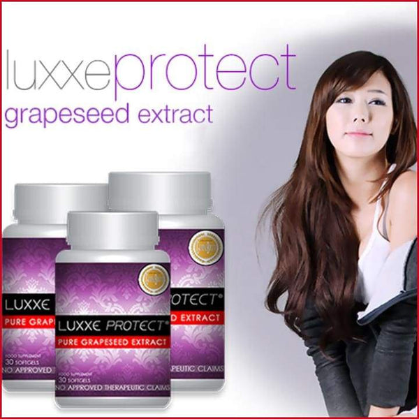 Authentic Luxxe Protect® Pure Grapeseed Extract 500mg Bottle of 30s made in USA - Luxxe Caps