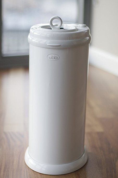Ubbi Money Saving, No Special Bag Required, Steel Odor Locking Diaper Pail