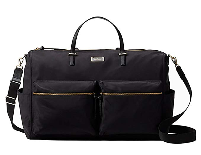 Kate Spade New york Wilson Road Carmella Weekender Duffle Travel Bag Black Nylon