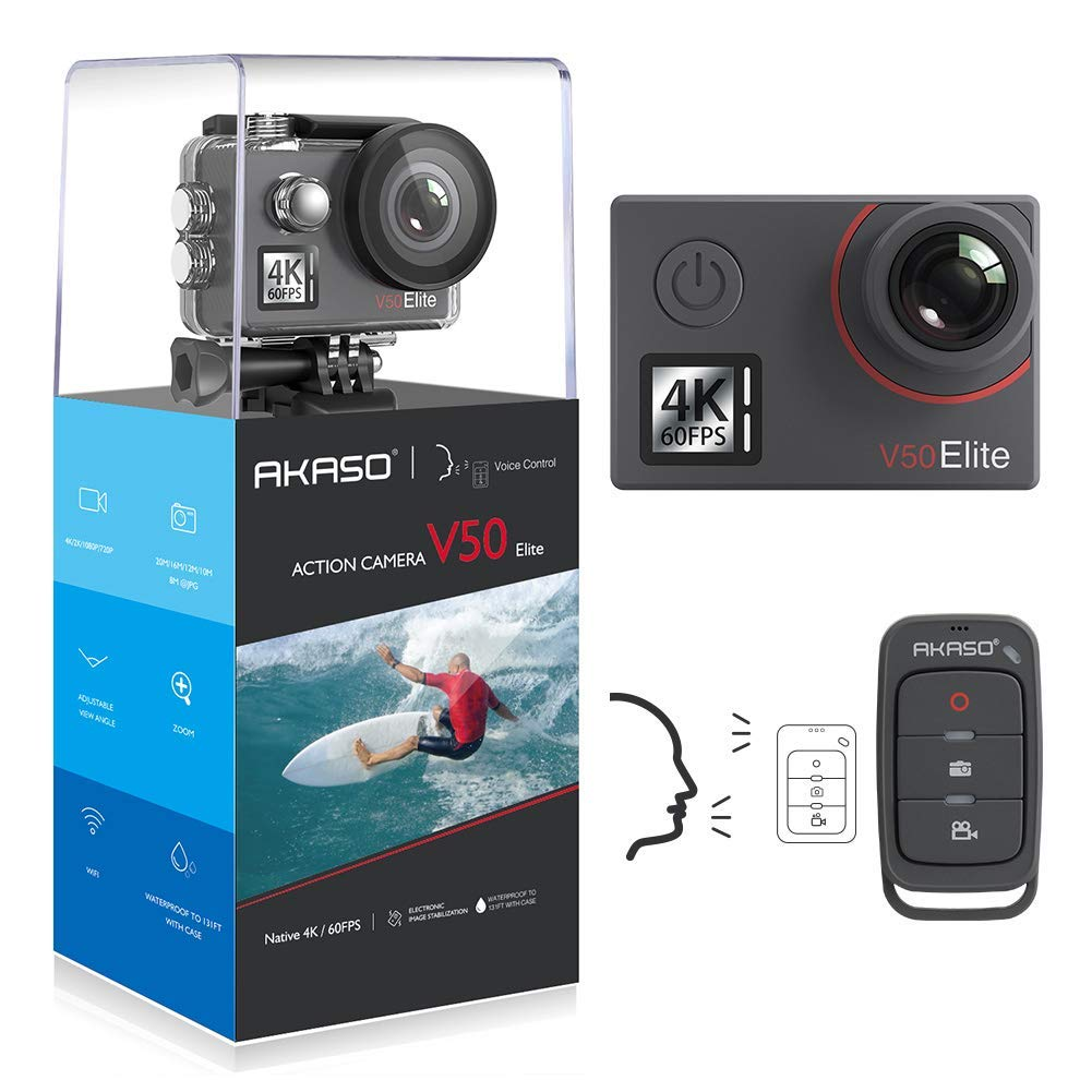 AKASO V50 Elite 4K/60fps 20MP WiFi Action Camera