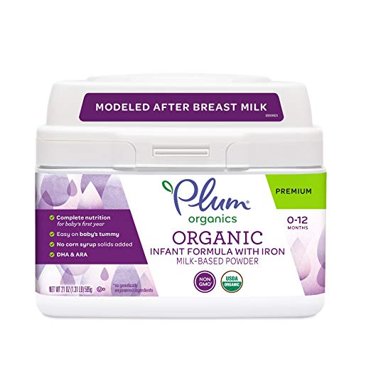 Plum Organics, Organic Infant Formula with Iron