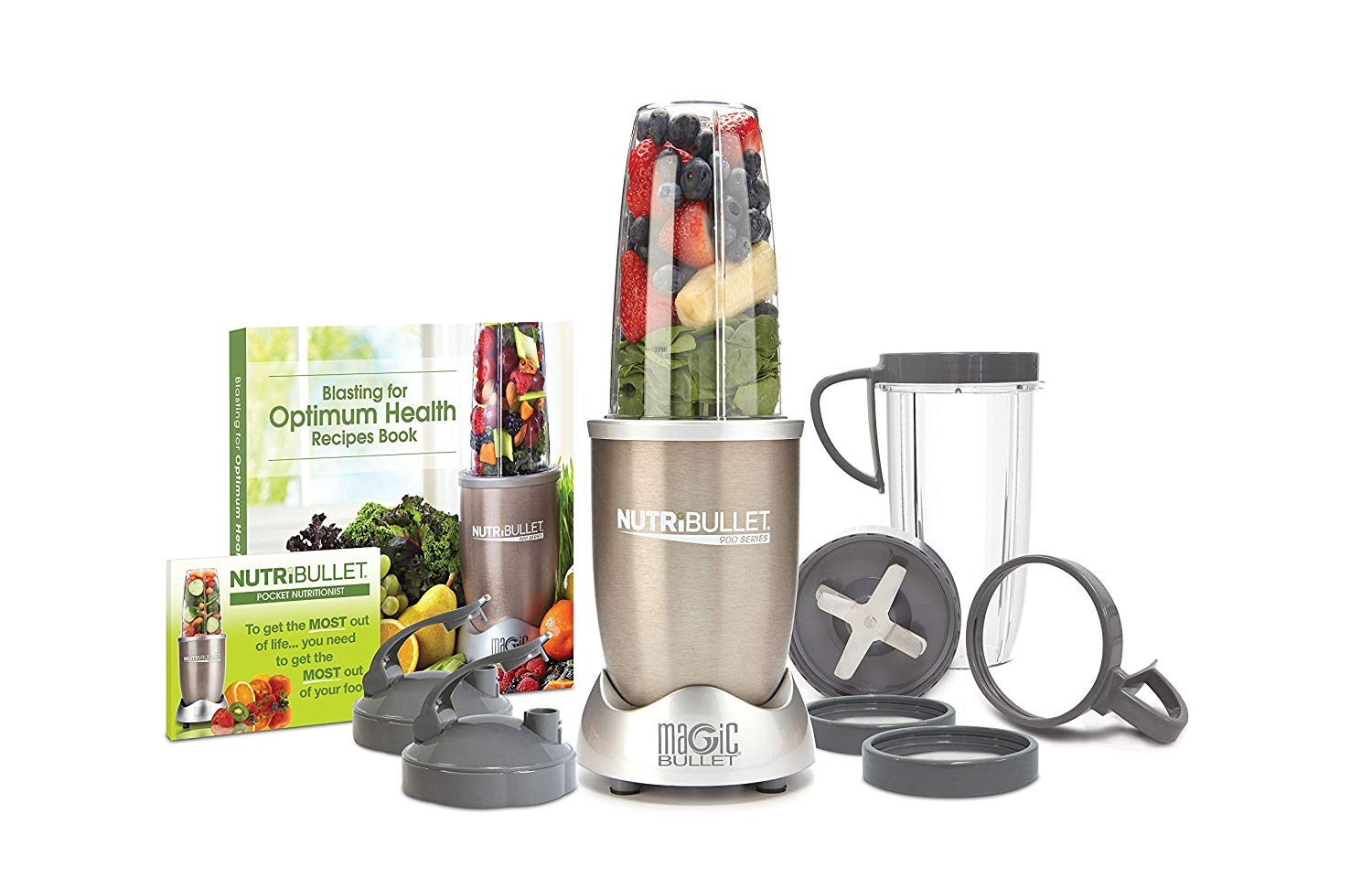 NutriBullet Pro - 13-Piece High-Speed Blender/Mixer System with Hardcover Recipe Book