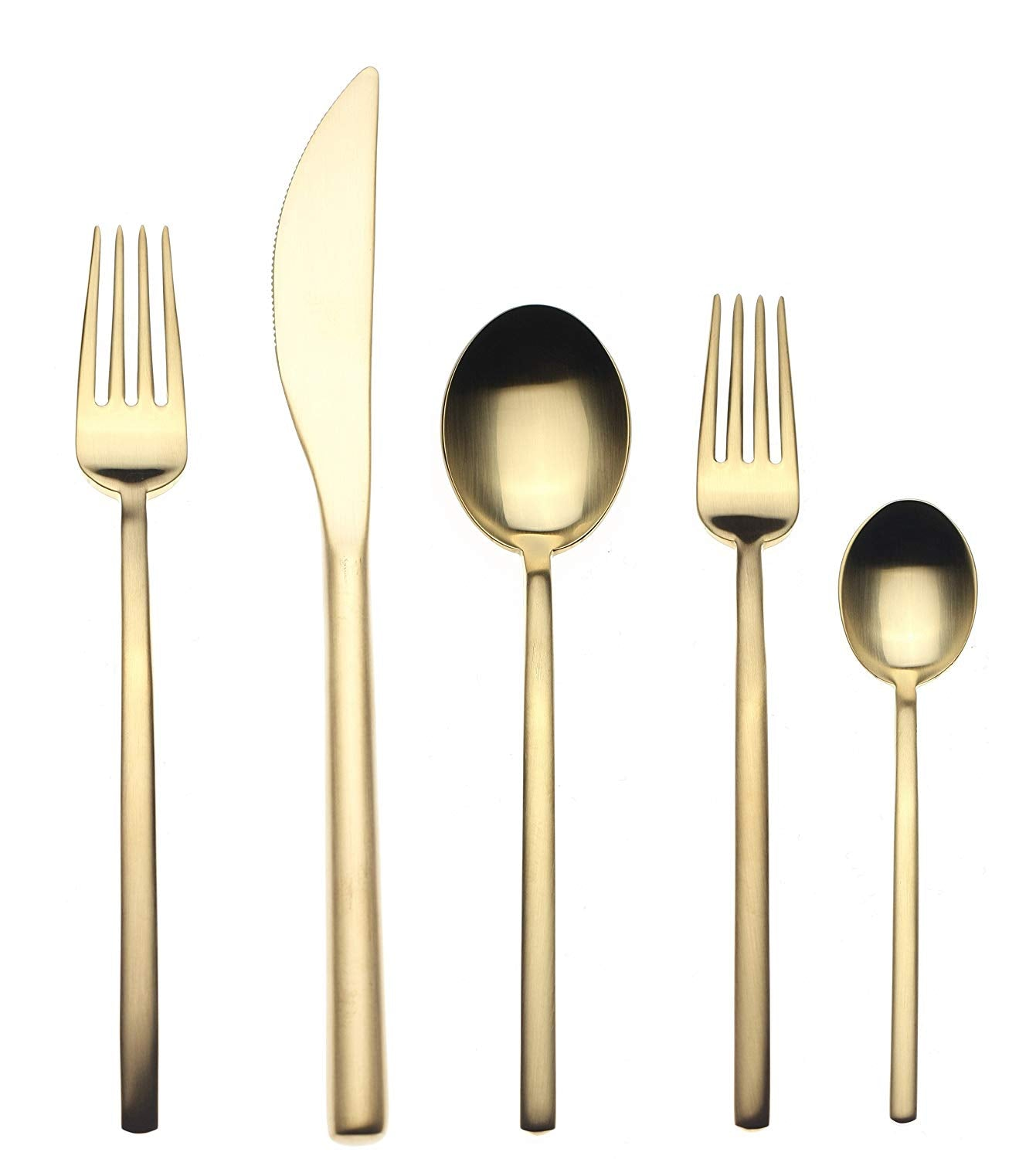 Mepra Due Ice Oro 5 Piece Place Setting