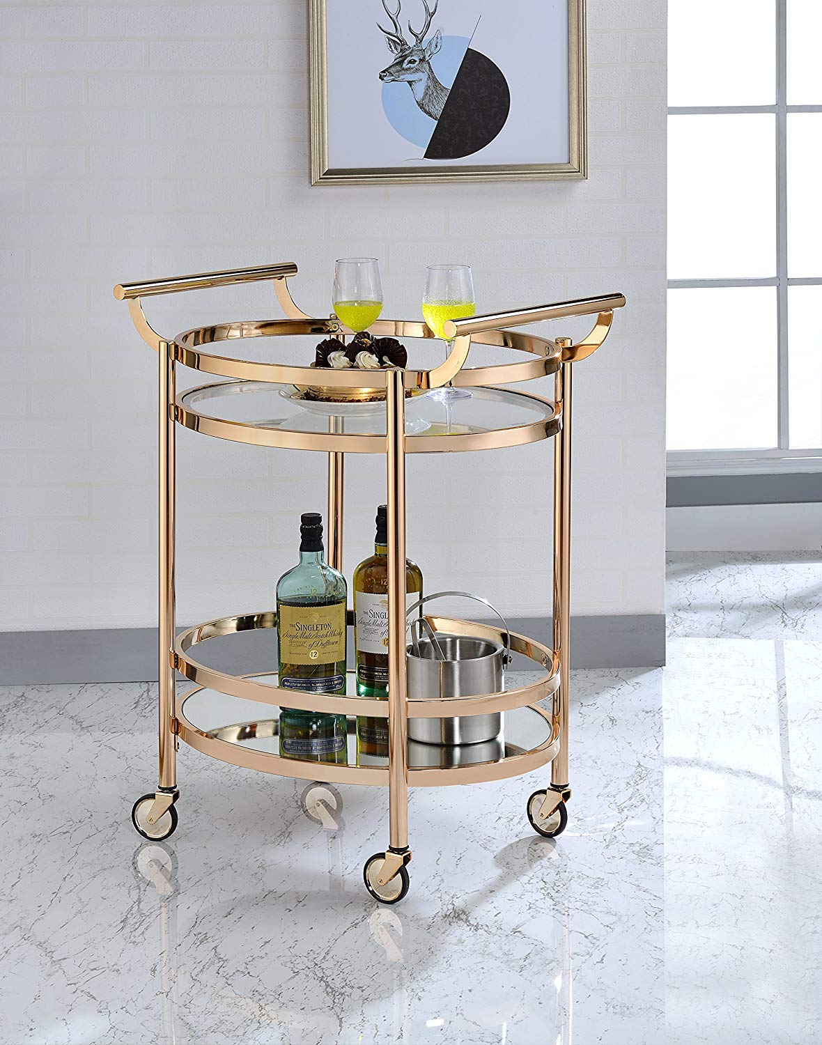 cme Furniture 98192 Lakelyn Serving Cart