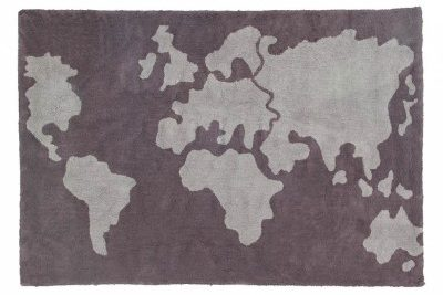 Lorena Canals World Map Washable Rug