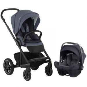 Nuna Mixx2 Travel System in Bleu