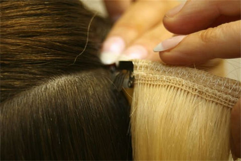 Hair extensions quick fix ebeautyusa there are many ways to use hair extension including bonding cold and warm fusion sew in braid in clipped in and heat sealed pmusecretfo Images