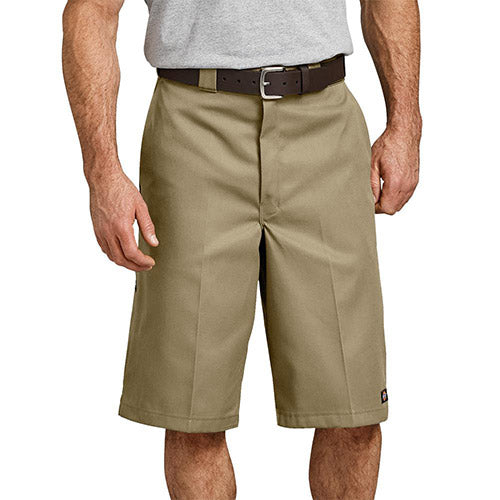 "13"" Loose Fit Multi-Use Pocket Work Shorts - KHAKI 
