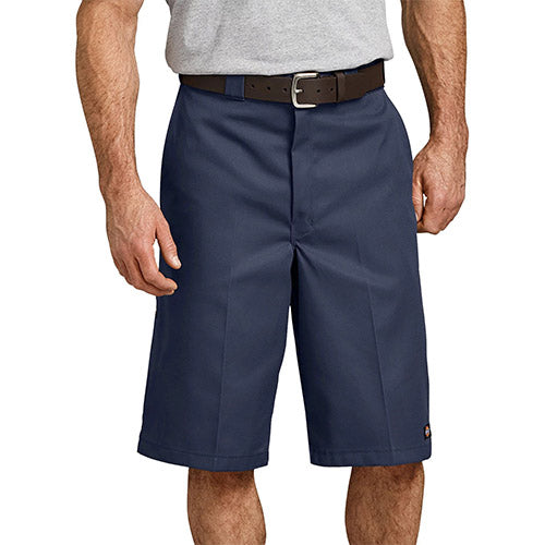 "13"" LOOSE FIT MULTI-USE POCKET WORK SHORTS - NAVY 