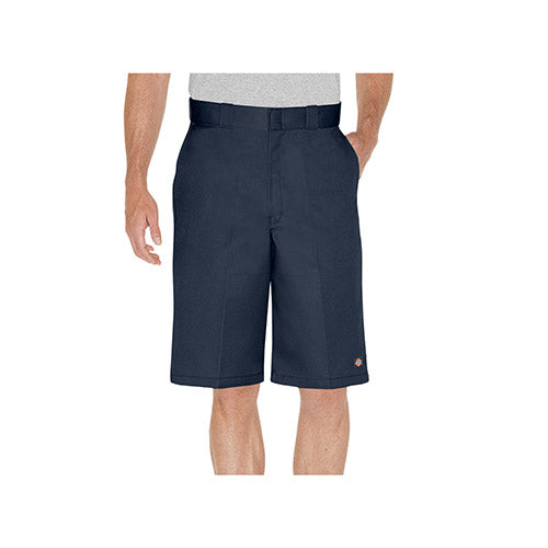 "13"" LOOSE FIT FLAT FRONT WORK SHORTS - DK NAVY 