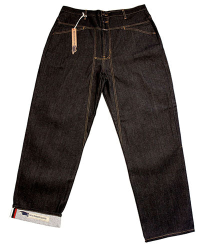 Selvedge Jean Blue Raw W/WHITE/KHAKI