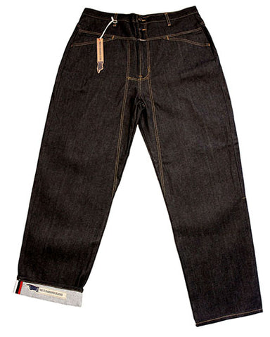 Girbaud Men's Brand X Selvedge Jean Blue Raw W/Red/White