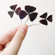 Load image into Gallery viewer, Sophie Clowders botanical oxalis purple clover leaf temporary tattoo for Modern Craft