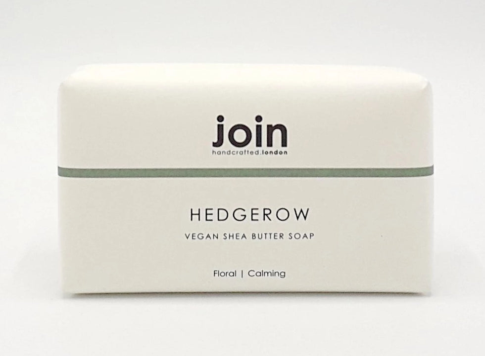 Join hedgerow vegan soap bar essential oils shea butter made in England for Modern Craft
