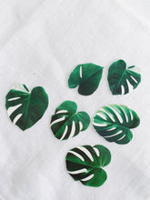 Load image into Gallery viewer, Sophie Clowders botanical monstera palm leaf temporary tattoo for Modern Craft