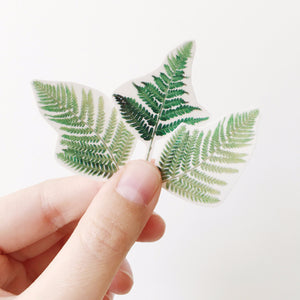 Sophie Clowders fern print botanical temporary tattoo for Modern Craft