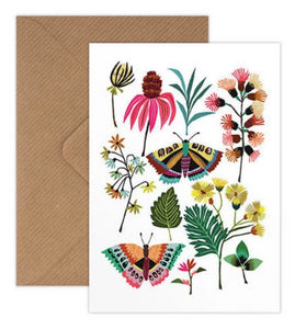 Brie Harrison butterflies card handmade in the UK for Modern Craft