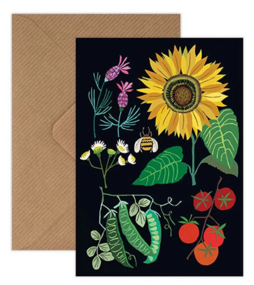 Sunflower Plot Greetings Card | Brie Harrison