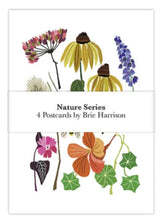 Load image into Gallery viewer, Brie Harrison botanical nature series art postcard pack. Handmade in the UK for Modern Craft