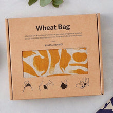 Load image into Gallery viewer, Blasta Henriet linen wheat bag organic British wheat handmade in London period pain muscle tension pregnancy support Modern Craft
