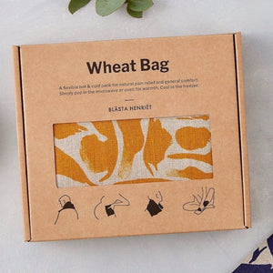 Blasta Henriet linen wheat bag organic British wheat handmade in London period pain muscle tension pregnancy support Modern Craft