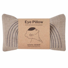 Load image into Gallery viewer, Blasta Henriet eye pillow linen hand made organic British wheat migraine headache support Modern Craft