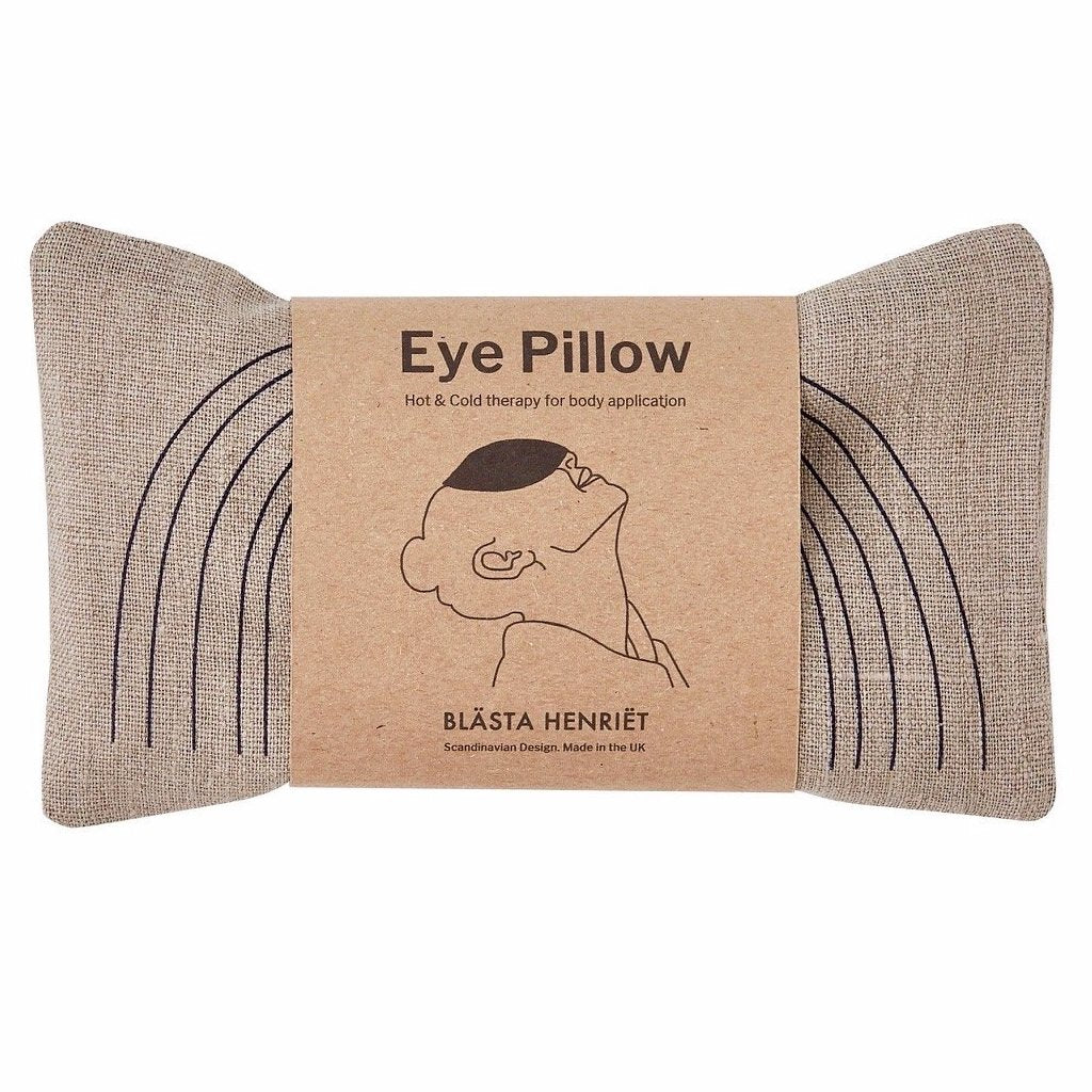 Blasta Henriet eye pillow linen hand made organic British wheat migraine headache support Modern Craft