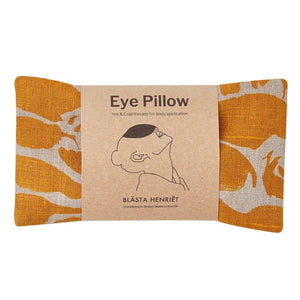 Blasta Henriet organic linen eye pillow British wheat handmade in London migraines headache support for Modern Craft