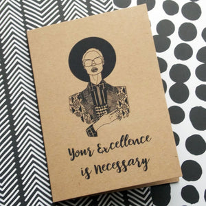 Dorcas Creates self care greetings card black excellence for Modern Craft