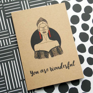 Dorcas Creates self care greetings card you are wonderful for Modern Craft