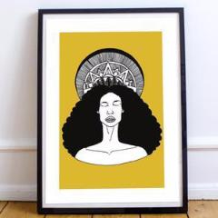 Dorcas Creates Sun Woman print Anyanwu Octavia Butler for Modern Craft