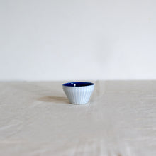Load image into Gallery viewer, Duck Ceramics porcelain ultramarine cobalt dipping bowl pot handmade in Brighton for Modern Craft
