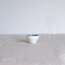 Load image into Gallery viewer, Duck Ceramics handmade porcelain azure blue dipping bowl pot made in Brighton for Modern Craft