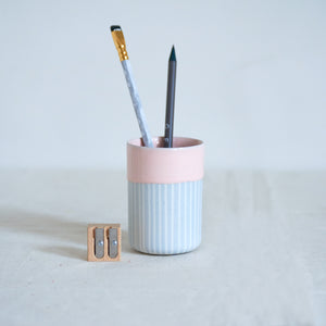 Duck Ceramics pink glazed vessel tumbler pot porcelain handmade in Brighton for Modern Craft